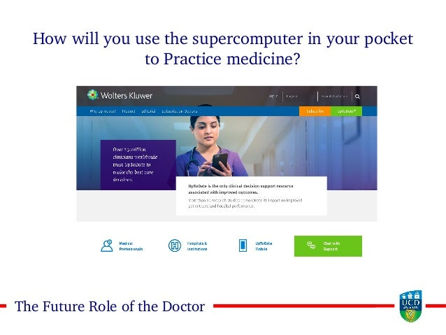 3030The Future Role of the Doctor How will you use the supercomputer in your pocket to Practice medicine?