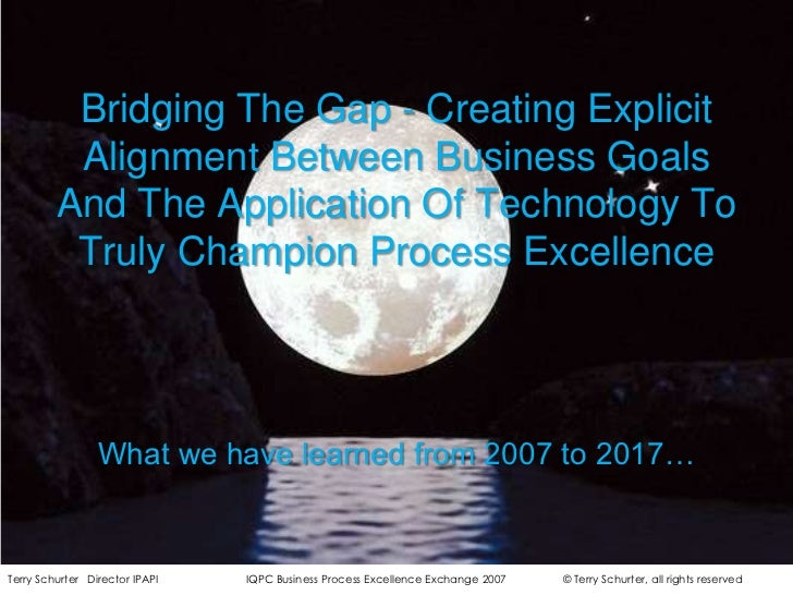 Bridging The Gap - Creating Explicit Alignment Between Business Goals And The Application Of Technology To Truly Champion ...
