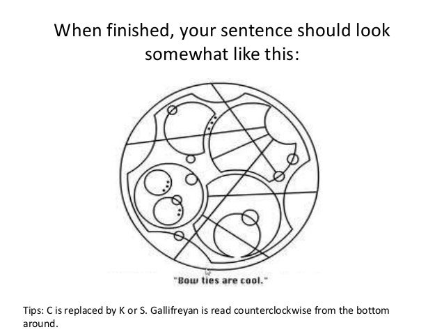 The Gallifreyan Alphabet For Doctor Who Fans