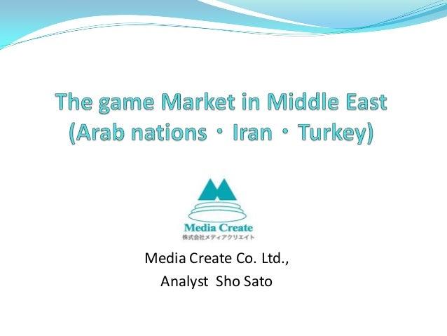 Media Create Co. Ltd.,Analyst Sho Sato