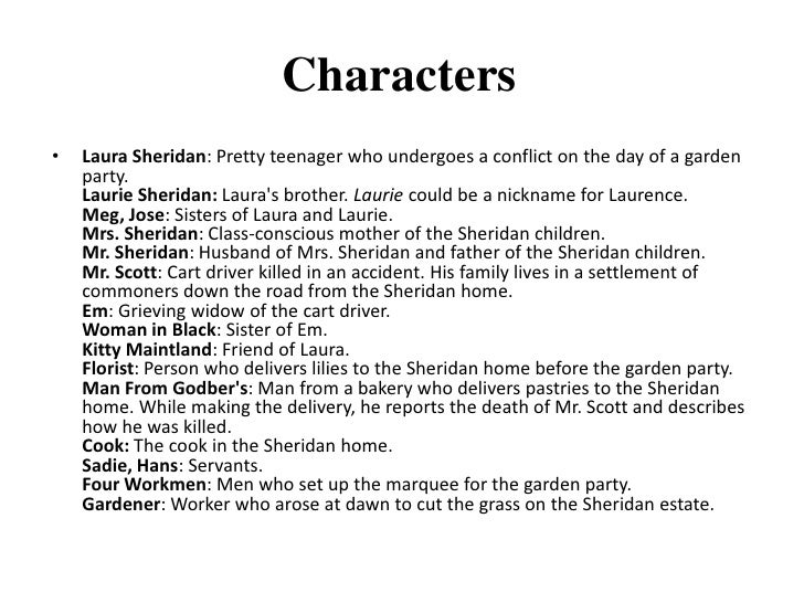 the garden party by katherine mansfield stylistic analysis This study guide consists of approximately 46 pages of chapter summaries, quotes, character analysis, themes, and more - everything you need to sharpen your knowledge of the garden party this detailed literature summary also contains bibliography on the garden party by katherine mansfield widely.