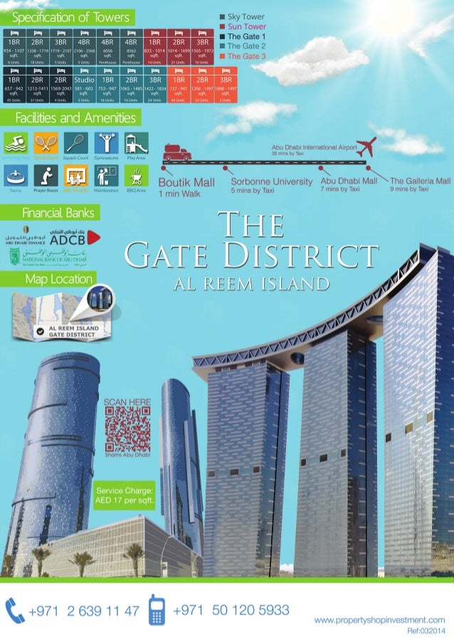 The gate district Al Reem Island Abu Dhabi