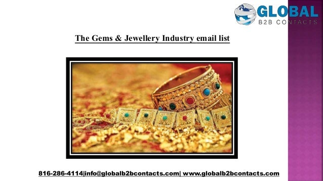 The gems & jewellery industry email list