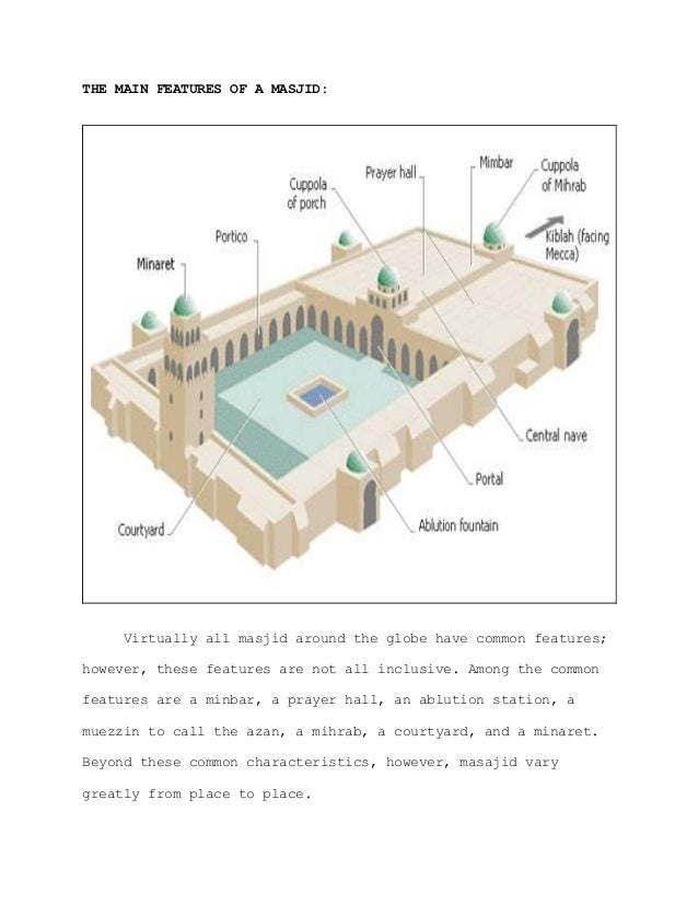 The general features of a masjid