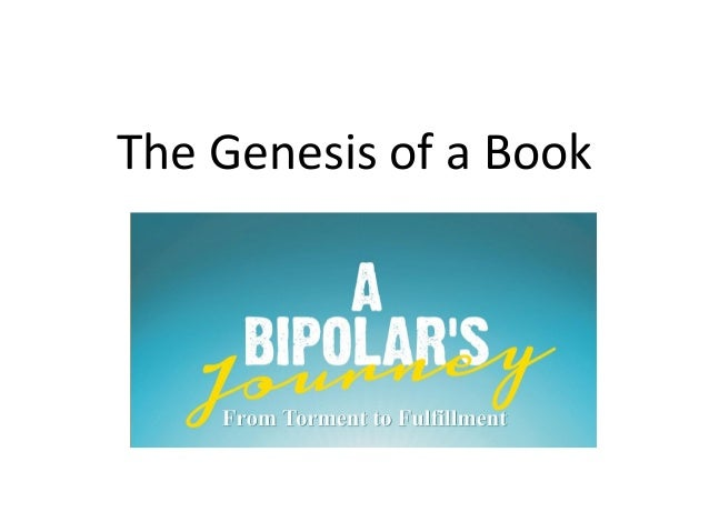 The Genesis of a Book