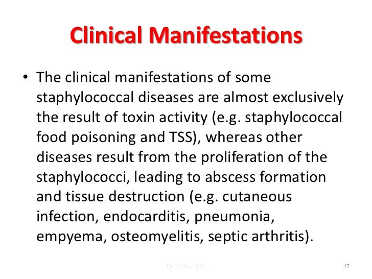 The genus staphylococcus drtvrao md 46 47 clinical manifestations the clinical manifestations of some staphylococcal diseases fandeluxe Images