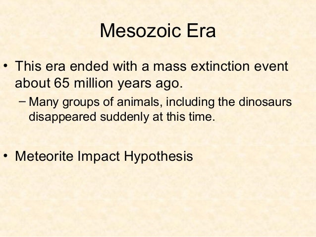 Cenozoic Era• Growth of these mountains may have helped to  cool down the climate  – Ice Ages occurred late in the Cenozoi...