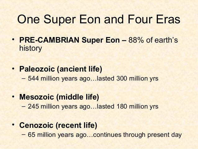 Paleozoic Era• At the end of the Paleozoic, the largest mass  extinction in history wiped out approximately  90% of all ma...