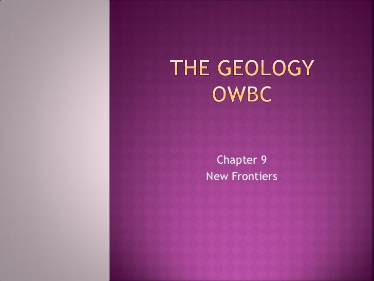 Chapter 9New Frontiers
