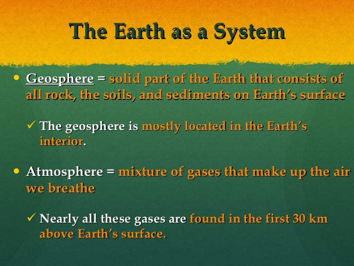 The Geosphere (ecology jan.30 - feb. 3)