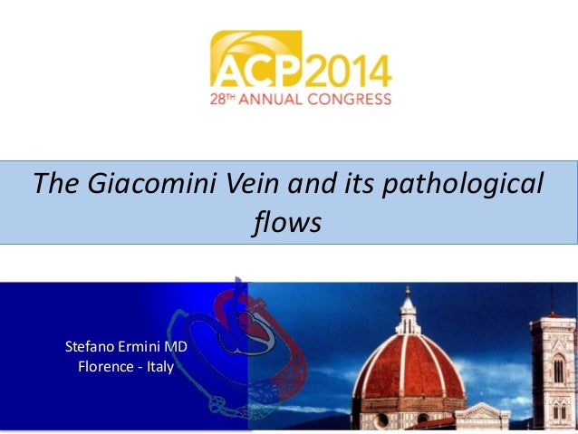 The Giacomini Vein and its pathological  flows  Stefano Ermini MD  Florence - Italy
