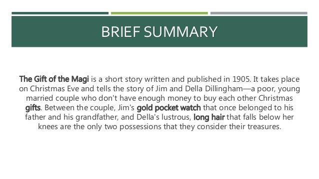the gift of the magi summary ppt