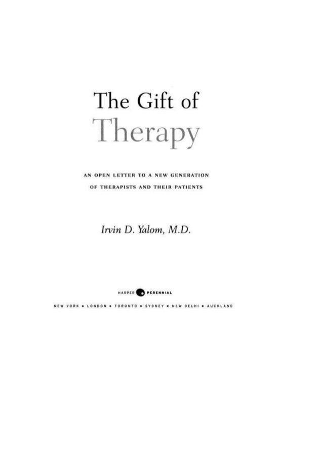 The gift of therapy yalom negle Choice Image