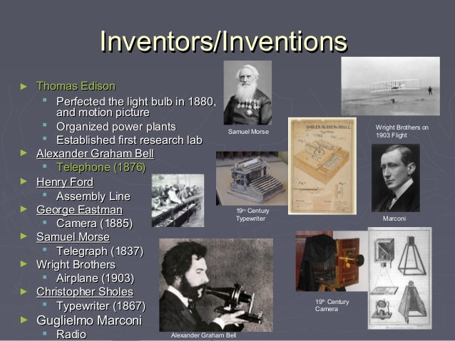 Inventors/InventionsInventors/Inventions► Thomas EdisonThomas Edison Perfected the light bulb in 1880,Perfected the lig...
