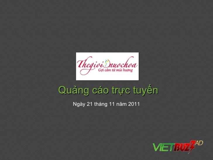 Quảng cáo trực tuyến  Ngày 21 tháng 11 năm 2011
