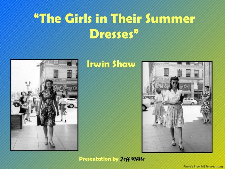 the girls in their summer dresses In the girls in their summer dresses, it is necessary to explore the personal differences that cause problems in the relationship of the couple.