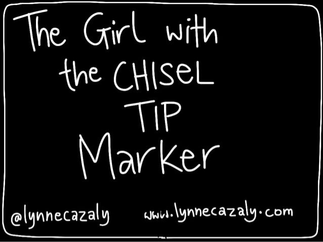 the girl with the chisel tip marker - at Agile Singapore 2014 @lynnecazaly  www.lynnecazaly.com