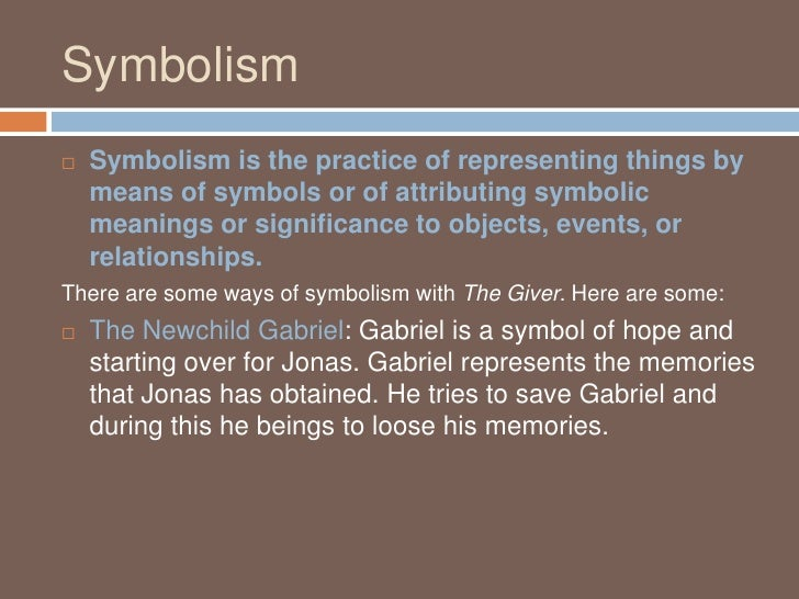 symbolism on the giver Symbol purpose of symbol in story examples of symbol in story main idea/summary 1 color red 2 gabriel 3 sled 4 light eyes 5 river the giver story chart.