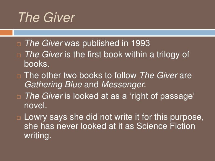 Essay on the help giver book