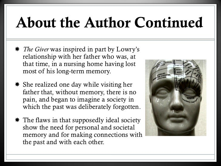 the giver intro 4 about the author continuediuml130shy the giver