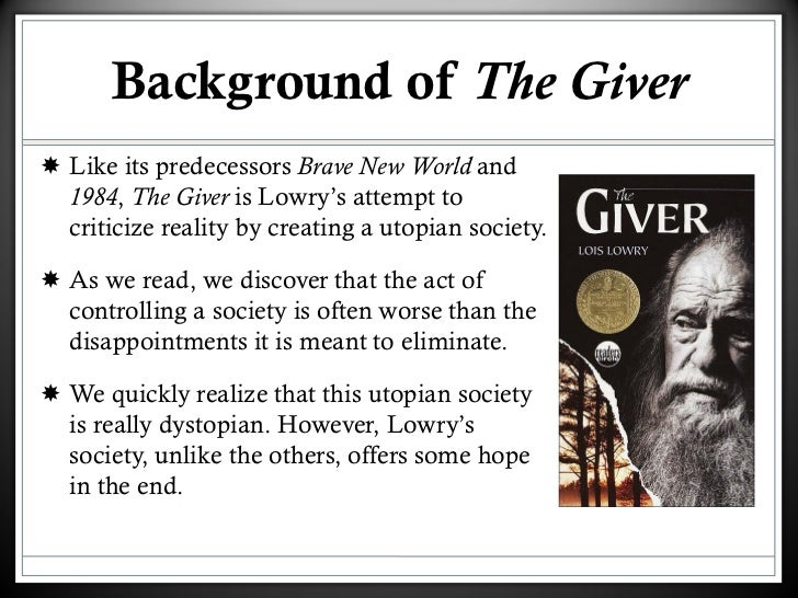 information on the book the giver