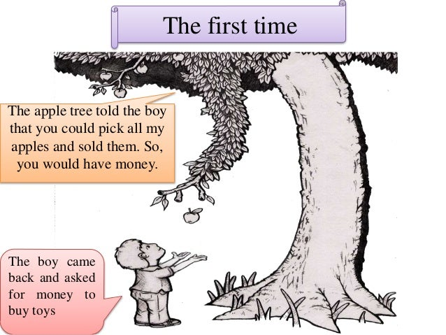 what the giving tree gave me Sasha i think a good moral would be that in giving you recieve this childrens book still makes me cry the boy gave the tree the giving tree does not.