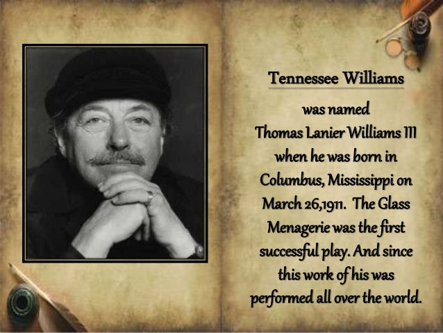 "a literary analysis of tennessee williams autobiography the glass menagerie John lahr begins his fascinating new biography in medias res: on march 31, 1945, the opening night of 34-year-old tennessee williams's first broadway hit, ""the glass menagerie."