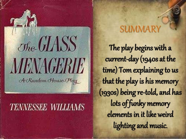 an analysis of the use of symbols in the glass menagerie by tennessee williams Free monkeynotes study guide summary-the glass menagerie by tennessee williams-themes  themes analysis - imagery / symbolism / title meaning  symbols is the.