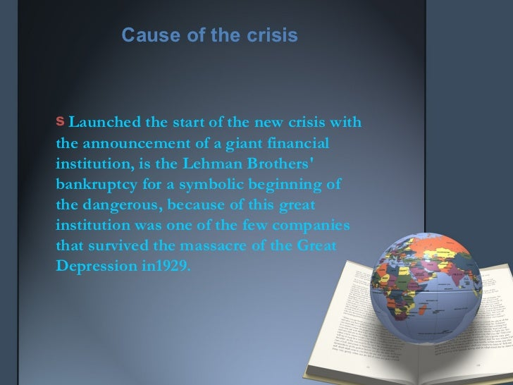 causes of global recession 2008 The global financial crisis (gfc) or global economic crisis is commonly believed to have begun in july 2007 with the credit crunch, when a loss of confidence by us investors in the value of sub-prime mortgages caused a liquidity crisis.