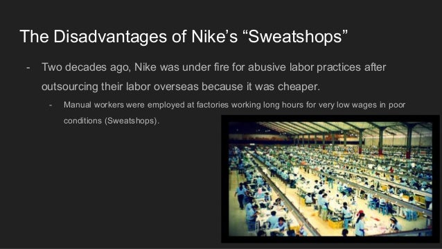 the issue of nikes asian labour practices Nikes also created a labor practices department to further address fair labor practices critics were still skeptical about nike's stance on wages and felt the company was still not doing enough to eliminate the problem.