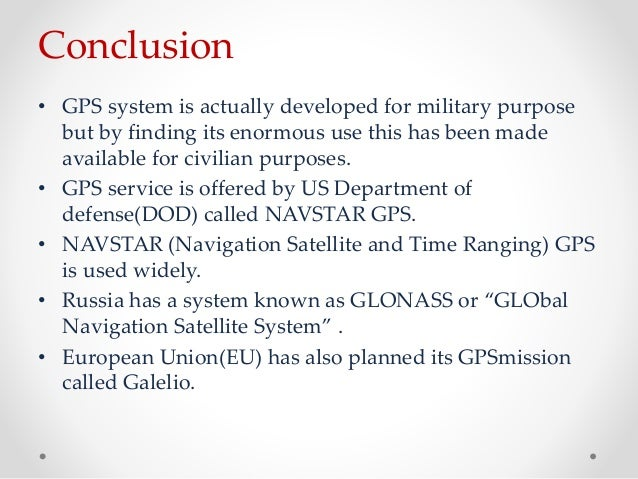 an overview of gps and its importance in military and civilian applications Finally, gps  remains critical to us national security, and its applications are integrated into virtually every facet of us military operations nearly all new military assets -- from vehicles to munitions -- come equipped with gps.