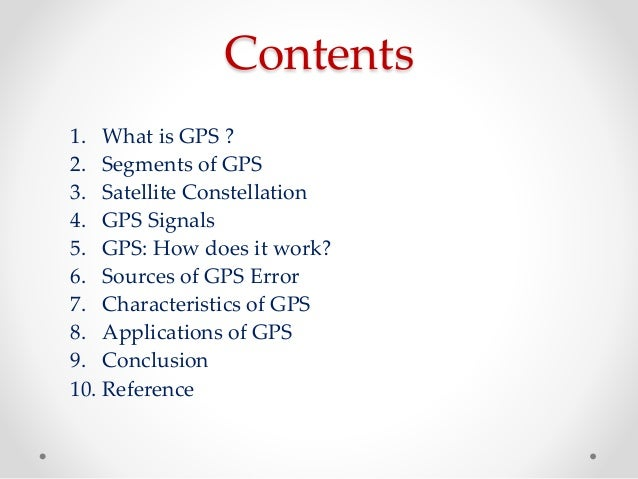 an overview of the gps or global positioning system An overview of global positioning system continuously operating reference stations by william a stone new mexico state geodetic advisor, national geodetic survey albuquerque, new mexico, usa.