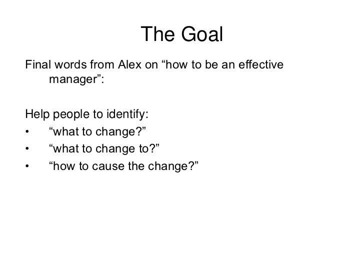 the goal the goalfinal