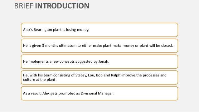 A summary of the story of goal by eliyahu m goldratt