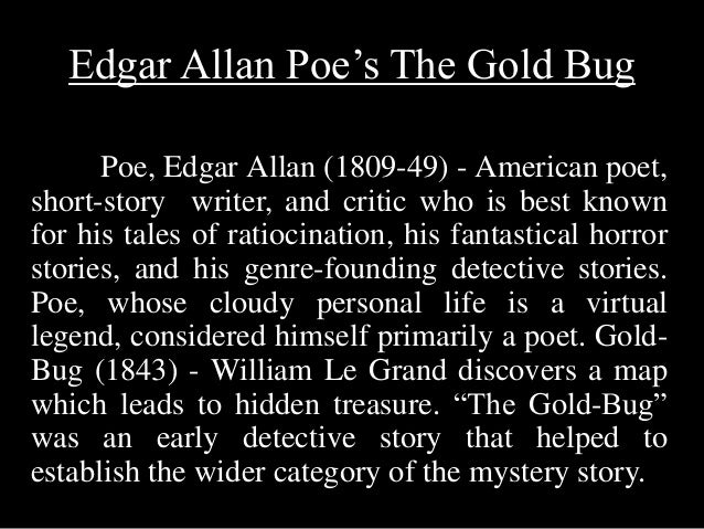 edgar allan poe the pioneer of the detective story Edgar allan poe: pioneer, genius, oddity edgar allan poe was found on the streets of baltimore in disarray be basically invents the detective story.