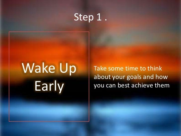goal focus in 2 steps