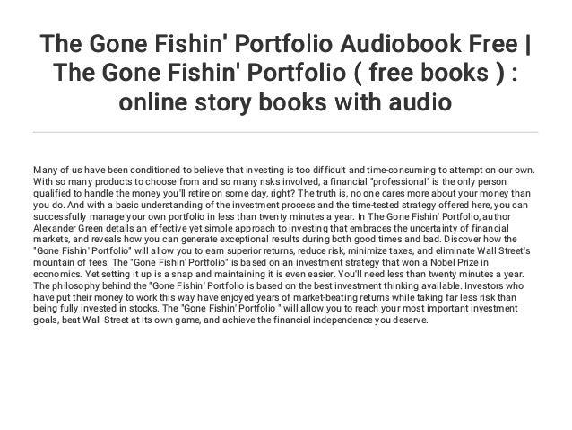 the gone fishin portfolio green alex ander sjuggerud steve