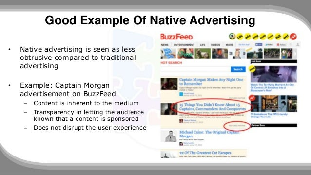 Native Advertising: The Good, The Bad And Examples