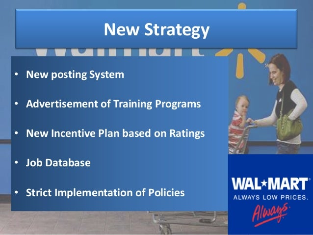 recommendation and implementation plan for wal mart Recommendations for wal-mart's supply chain in the immediate  the next steps  would be to establish cross-functional teams implementing.