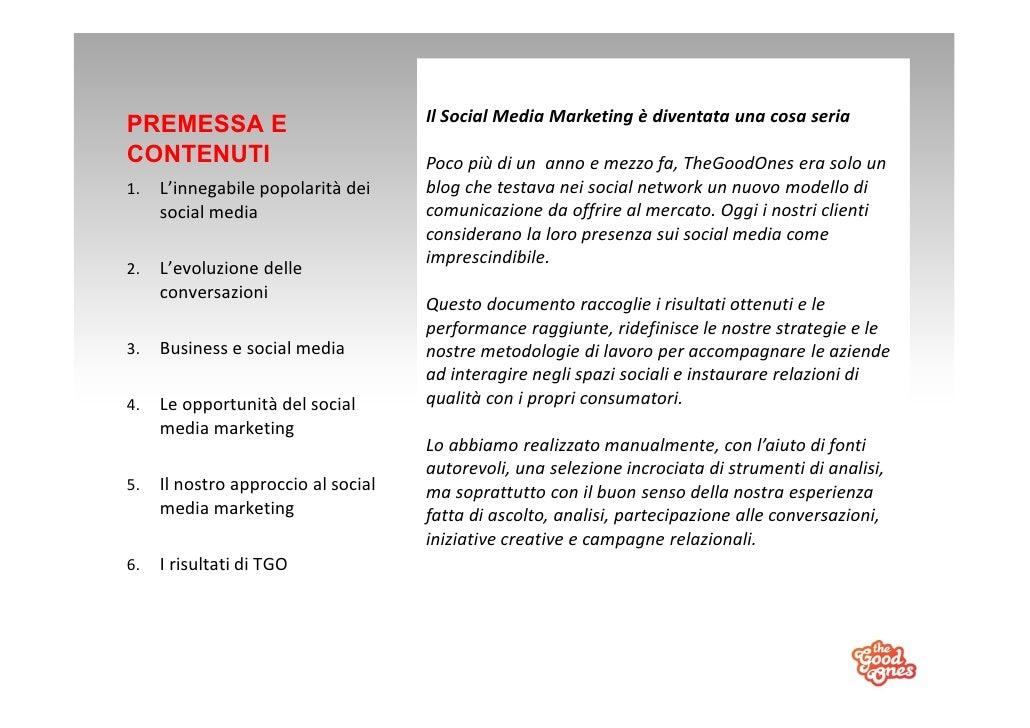 TheGoodOnes: il nostro social media marketing Slide 2