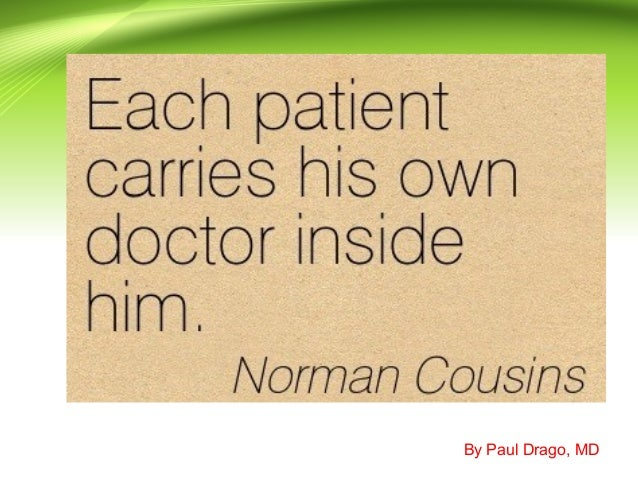 The good physician- Paul Drago, MD