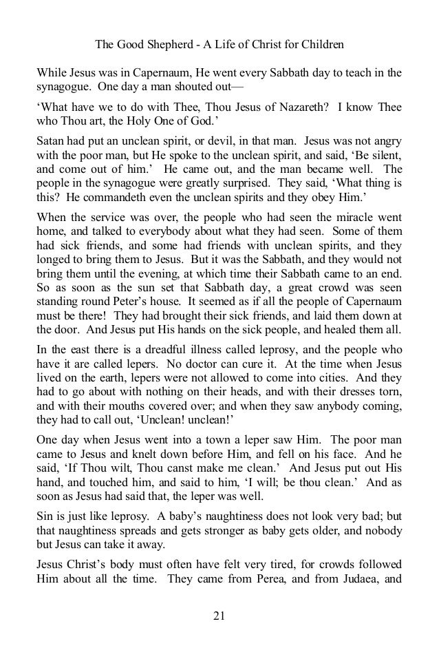 The good shepherd a life of christ for children by anonymous ebook 20 21 fandeluxe Epub