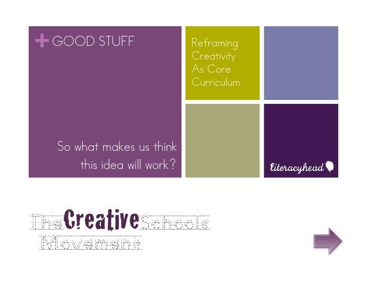 + GOOD STUFF                 Reframing                             Creativity                             As Core         ...