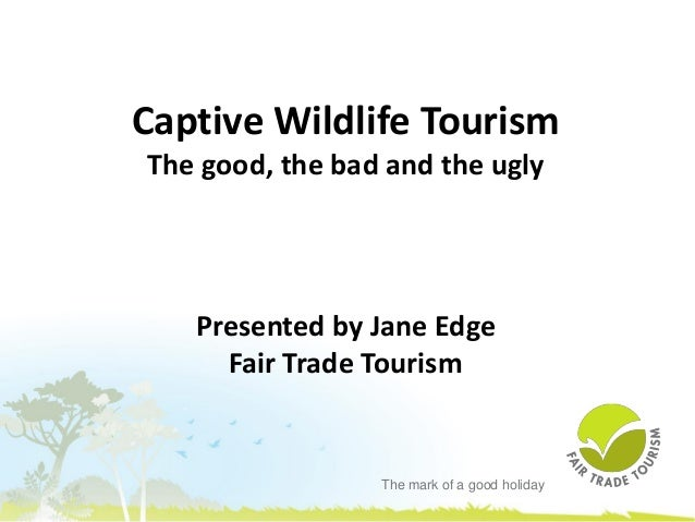 The mark of a good holiday Captive Wildlife Tourism The good, the bad and the ugly Presented by Jane Edge Fair Trade Touri...