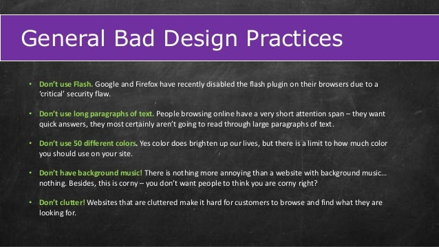 good design and bad design practices Customers are won and lost every day because of good or bad user experience design the most important t mobile design best practices mobile design best practices.
