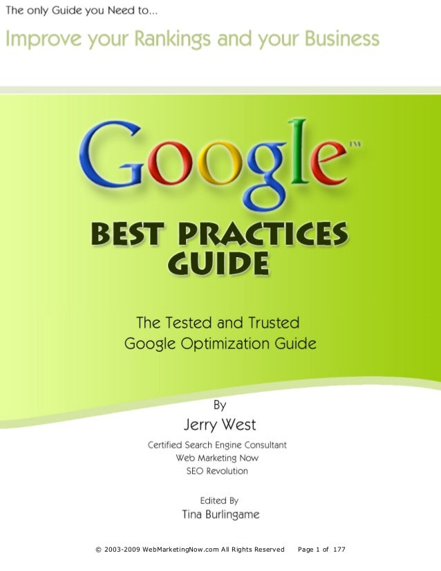 The Tested & Trusted Google Optimization GuideDisclaimer                                                                 3...