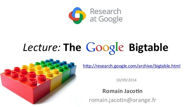 google big table research paper Google scholar in english aide confidentialit.