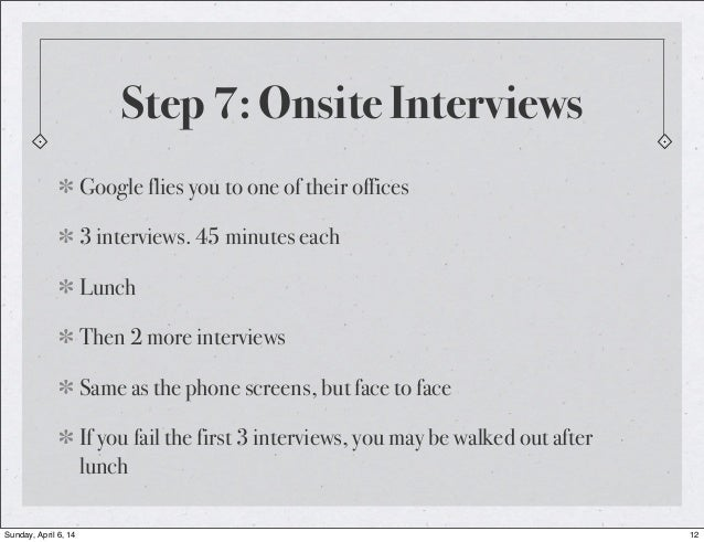 onsite interview