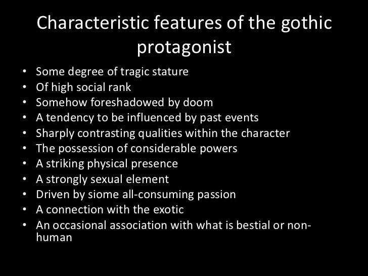 the gothic protagonist the byronic hero or antihero