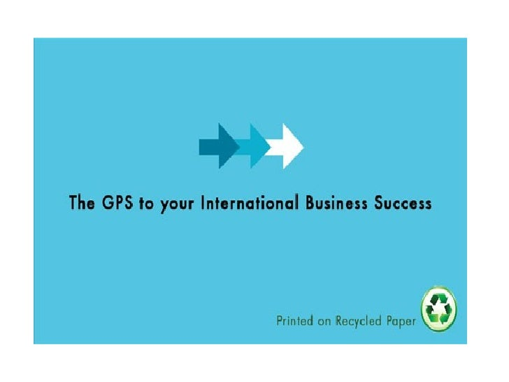 The GPS to Your International Business Success Casey Xiao-Morris Import and Export Consultant